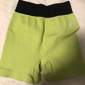 Free people movement lime green biker shorts